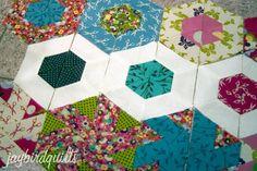 hexagon quilt along... block #1 | Jaybird Quilts