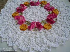 Centro de Mesa Toalhinha Borboletas Crochet Butterfly Doily