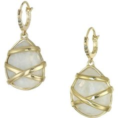 Cole Haan Wrapped Moonstone Drop Earrings (Gold/Moonstone/Black... ($88) ❤ liked on Polyvore featuring jewelry, earrings, moonstone earrings, wrap earrings, gold jewellery, gold post earrings and gold earrings