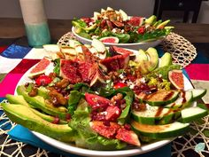 Feigen-Avocado-Salat Superfoods, Feta, Avocado Salat, Cobb Salad, Clean Eating, Fall Salad, Credenzas, Figs, Recipes