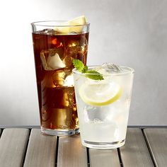 Pop Clear Acrylic Drink Glasses | Crate and Barrel