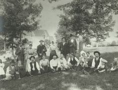 Croquet party at W.E. Logan's home, 124 Logan Ave., West Asheville, NC, ca. 1895