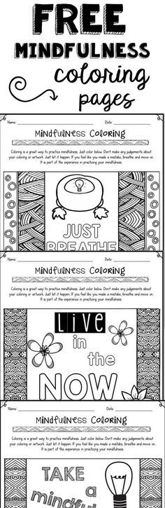 Stress management : FREE mindfulness coloring pages to help with relaxation and positive thinking