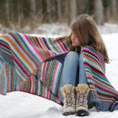Crochet Blanket Pattern - Scrappy Happy V-stitch Blanket - US 2f29325dd47a2