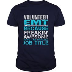 VOLUNTEER EMT T-Shirts, Hoodies. SHOPPING NOW ==► Funny Tee Shirts