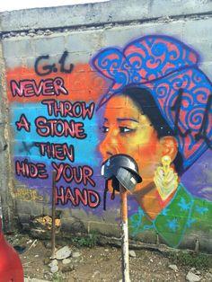 Street Art on the way to the Bar do David in Lapa - Rio de Janeiro Brazil