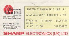 Manchester Utd-VCF 82-83 (Copa UEFA) 24 Hour Service, Trafford, Manchester United, Valencia, The Unit, Europe