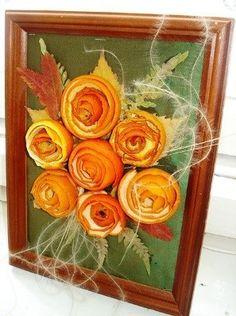 Romantic Dried Fruit Decoration Idea: Orange Peel Roses