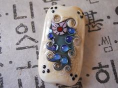 Handmade Focal Glass Lampwork Bead by TOWNPLACEBEADS on Etsy