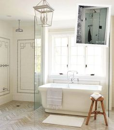 Tile, glass, tub | Canadian House and Home