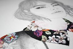 Embroidered Illustrations by Izziyana Suhaimi - A hurricane thundercloud! Modern Embroidery, Embroidery Art, Trendy Mood, Fashion Bubbles, Illustrations, Embroidery Techniques, Watercolor Illustration, Textile Art, Female Art