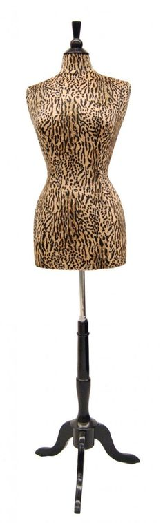 """This animal print dress form is perfect for the dressing room of a """"tigress"""""""