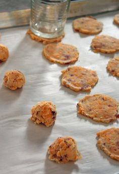 Jo and Sue: Bacon Cheddar Crackers but, I like this technique for sausage balls