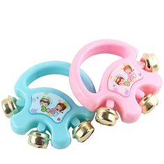 1PC Baby Handbell Shaker Kids Plastic Rattle Shakers Children Educational Toys Musical Instrument Party Toy High Quality