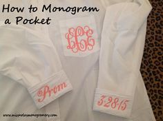 "How to Monogram a Pocket on a ""Boyfriend"" Shirt |"