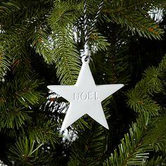 Buy John Lewis Noel Star Decoration, White Online at johnlewis.com