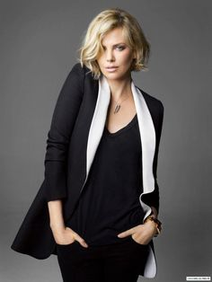 ☼ Charlize Theron- I was so loving this cut and color.... Seriously thinking about it.