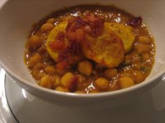 Chole with Amchur crusted Alu --  BTW crusting uses oven, so not for loadshedding (or could be fried)