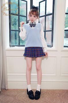 JK制服スクールベスト-全2色-T1259|Autumn Winter Collection | Bobon21(ボボンニジュウイチ)