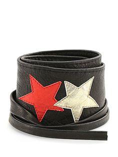 MEATPACKING D - Cinture - Accessori - Cintura in pelle , con lacci per fiocco Altezza 80 mm. da allacciare a vita alta. - NERO - € 75.00
