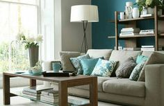brown and blue.. great site.. just enter your colors and gives you design ideas!