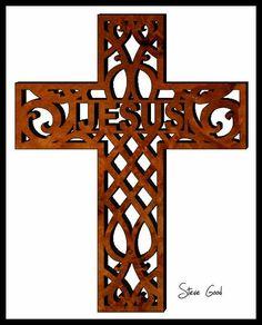 Scrollsaw Workshop: Ornamental Cross Scroll Saw Pattern. Mosaic Crosses, Wooden Crosses, Wall Crosses, Scroll Saw Patterns Free, Scroll Pattern, Cross Patterns, Wooden Projects, Wood Crafts, Laser Cut Patterns