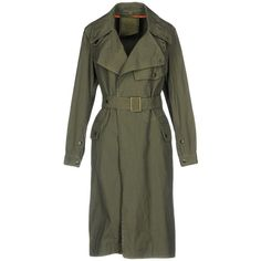Mr & Mrs Italy Overcoat (40.670 RUB) ❤ liked on Polyvore featuring outerwear, coats, military green, olive trench coat, over coat, army green trench coat, olive green coat and olive green trench coat