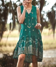 3712-New-158-Maeve-Anthropologie-Pippa-Swing-Floral-Embroidered-Green-Dress-S