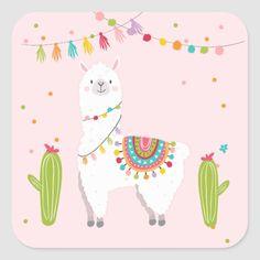Llama Sticker Llama birthday Alpaca Fiesta Mexican