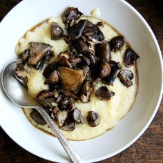 Roasted Mushrooms with Sherry + Creamy Polenta recipe on Food52