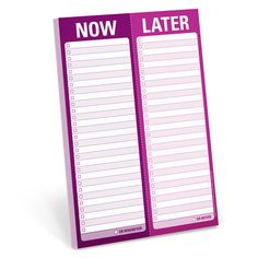 Knock Knock Now / Later Perforated Pads are not your ordinary to-do list pads. Create your to do list for today & beyond with funny Knock Knock notepads.