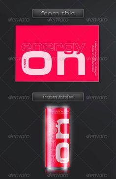 Energy Drink Soda Can Mockup