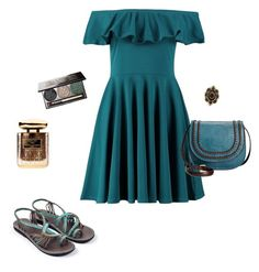 """""""Teal Beauty"""" by plaka-sandals on Polyvore featuring Boohoo, Tignanello, Gucci and By Terry"""