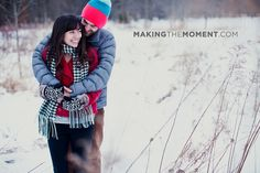 Creative Winter Engagement Session Photography | Making the Moment Photography