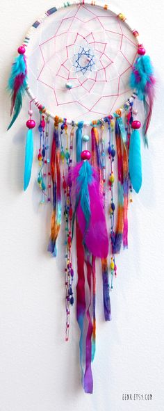 Sherbert Fairy Native Woven #Dreamcatcher. $59.00, via Etsy.