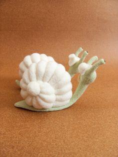 Wedding Cake Topper  Needle Felted Snails by felttess on Etsy, $89.00