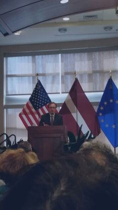 His Excellency Ambassador Adris Razanz at #EUDayIllinois discussing the future of the EU and strong transatlantic ties.