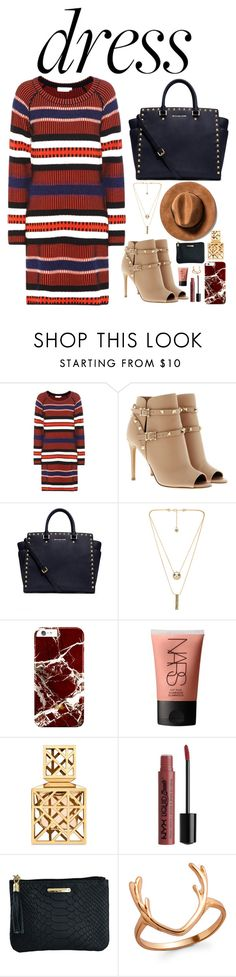 """""""Untitled #278"""" by emmeleialouca ❤ liked on Polyvore featuring Tory Burch, Valentino, MICHAEL Michael Kors, House of Harlow 1960, NARS Cosmetics and GiGi New York"""