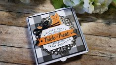 Stampin Up Halloween Pizza Box video from The Stampin B Halloween Pizza, Up Halloween, Halloween Projects, Halloween Cards, Halloween Treats, Box Video, Halloween Treat Holders, Pizza Boxes, Wedding Boxes