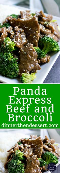 A Panda Express Beef and Broccoli delicious spot-on copycat with tender  stir fried flank