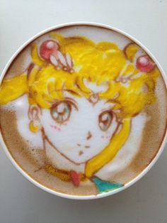Sailor Moon Latte Art by Sugi