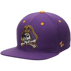 The Game East Carolina Purple Baseball Cap with ECU Arched Embroidered