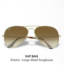 Ray Ban Aviator - Large Metal Sunglasses