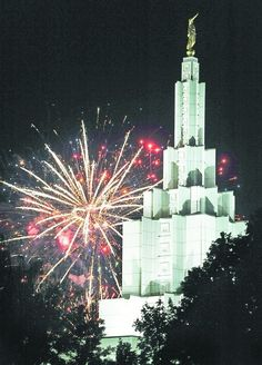 The Idaho Falls Temple on July 4th 2012!