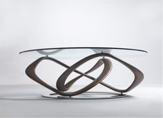 Modern Glass Top Dining Table with Unique Buffer interior design ideas and inspiration, with quality HD images of Modern Glass Top Dining Table with Unique Buffer. Round Glass Coffee Table, Glass Top Dining Table, Oval Coffee Tables, Dining Table Design, Coffee Table Design, Round Dining Table, Glass Tables, Oval Table, Minimalist Furniture