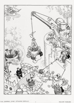 THE COMPANY STARTS STEAMER SERVICES by WILLIAM HEATH ROBINSON