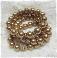 Stretch Gold Bracelets Gold Bracelets, Pandora, Handmade, Jewelry, Fashion, Gold Charm Bracelets, Moda, Hand Made, Jewlery