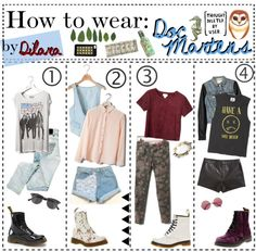 """How to wear: Doc Martens"" by the-hipster-tip-sisters ❤ liked on Polyvore"