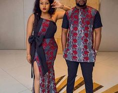 Matching Couples' outfit, Ankara for couples, African Outfit for couple Matching Couples' outfit, Ankara for couples, African Outfit for couple Couples African Outfits, African Clothing For Men, African Shirts, Couple Outfits, African Attire, African Wear, African Dress, African Style, African Kids