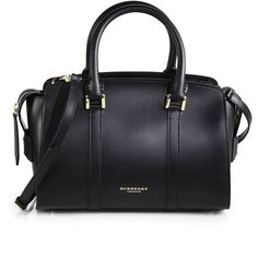 Burberry Prorsum Welney Sartorial Leather Bag (13 560 SEK) ❤ liked on Polyvore featuring bags, handbags, shoulder bags, purses, bolsas, sacs, black, black leather purse, burberry shoulder bag and black purse